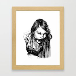 Ball Gagged Lady Portrait ©Yury Fadeev Framed Art Print