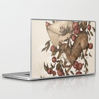 coyote Laptop & iPad Skins featuring Coyote Love Letters by Jessica Roux