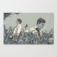 true detective Canvas Prints featuring True Detective by Rhafael Aseo