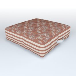 Water Swingers in Beach Sand ( leafy sea dragon pattern in coral ) Outdoor Floor Cushion