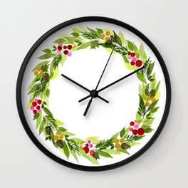 Whispering Pine Cones Wall Clock