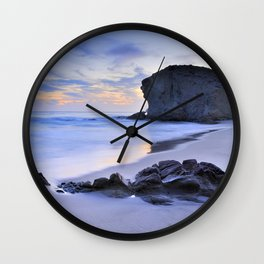 Monsul beach at sunset Wall Clock