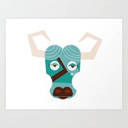 Babe the Blue Ox Art Print
