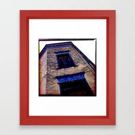 Historic building in Roma, Tx Framed Art Print