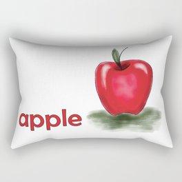 A is for Apple, children alphabet for kids room and nursery Rectangular Pillow