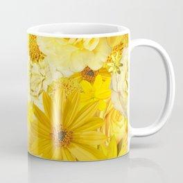 Yellow Rose Bouquet with Gerbera Daisy Flowers Coffee Mug