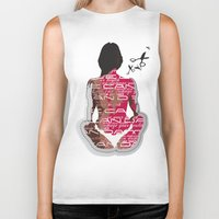 health Biker Tanks featuring Love can damage your health by Sedef is sketching