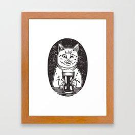 Thirsty Cat Framed Art Print