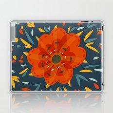 Decorative Whimsical Orange Flower Laptop & iPad Skin