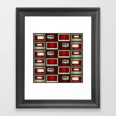 Dark Romance Geometric Framed Art Print