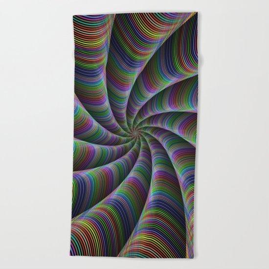 Infinite color fun Beach Towel