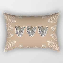 peach leopards Rectangular Pillow