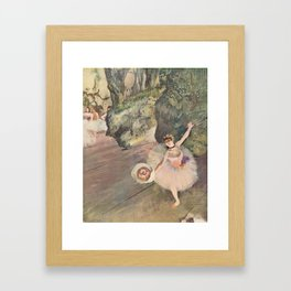 Dancer with a Bouquet of Flowers (Star of the Ballet) Framed Art Print