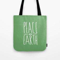 Peace on Earth (Green) Tote Bag