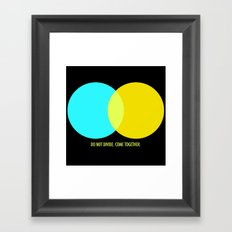 Do Not Divide Framed Art Print