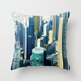 Dubai cityscape Throw Pillow