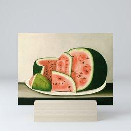 Watermelon on a Plate Painting Mini Art Print