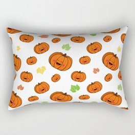 The happy pumpkin Rectangular Pillow