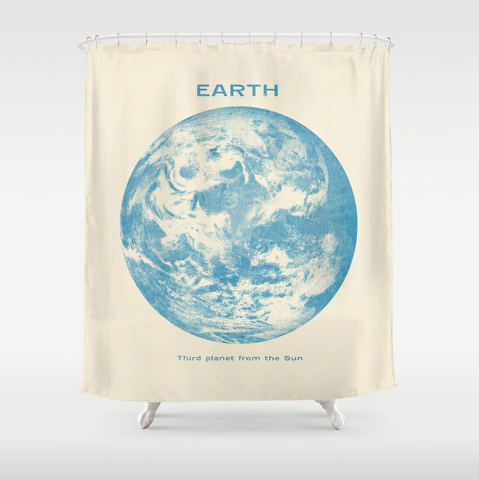 Third Planet Shower Curtain