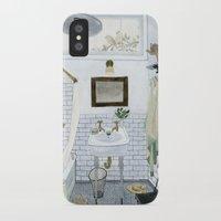 bathroom iPhone & iPod Cases featuring In The Bathroom by Yuliya