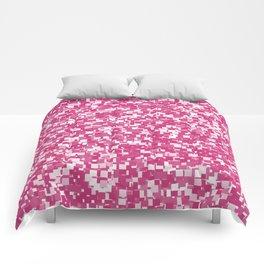 Pink Yarrow Pixels Comforters