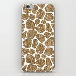 Glitter Giraffe Animal Print Pattern iPhone Skin