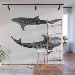 Whale sharks Wall Mural