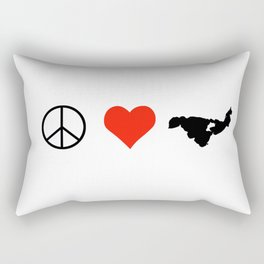 Peace LOVE Crooked Lake Rectangular Pillow