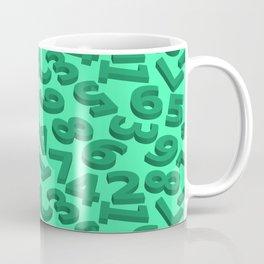 Green number in 3D Coffee Mug