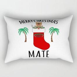 Quokka Australia Kangaroo Marsupial Merry Christmas, Mate Rectangular Pillow