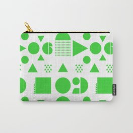 BLOCK PARTY IN NEON GREEN Carry-All Pouch