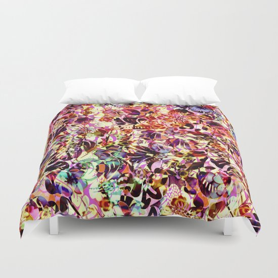 joyful abstract floral Duvet Cover