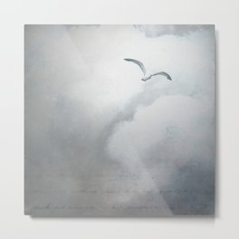 SEAGULL ABOVE Metal Print