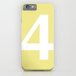 4 (WHITE & KHAKI NUMBERS) iPhone Case