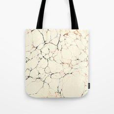 Marble Cream Blue / Orange Square # 2 Tote Bag
