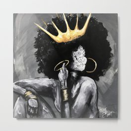 Naturally Queen VI Metal Print