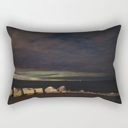 New Years eve Aurora peaking though the clouds Rectangular Pillow