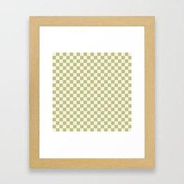 Checked - Matcha Framed Art Print