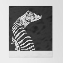 Thylacine (Tasmanian Tiger) Throw Blanket