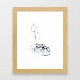 Cirrus/ Sailingboat Framed Art Print