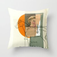 legs Throw Pillows featuring Legs by Cut and Paste