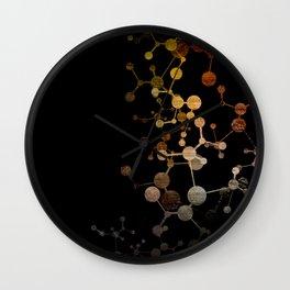 Metallic Molecule Wall Clock