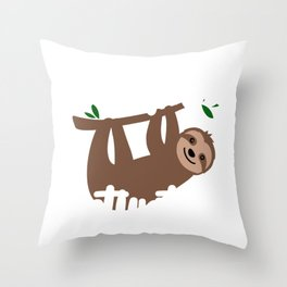 Sloth Lover Sloth Mode Activated Cute Sloth Gift Throw Pillow