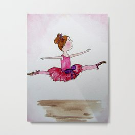 The Little Ballerina 2 Metal Print