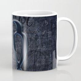 Zodiac Sign Virgo in Grunge Style Coffee Mug