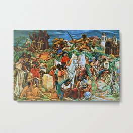 African American Masterpiece Golden State Mural, Exploration and Colonization by Charles Alston Metal Print