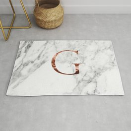 Monogram rose gold marble G Rug