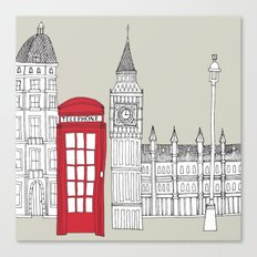 London Red Telephone Box Canvas Print