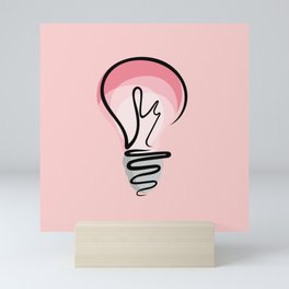 Pink Idea Mini Art Print