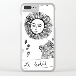 Le Soleil_ study tarot cards Clear iPhone Case